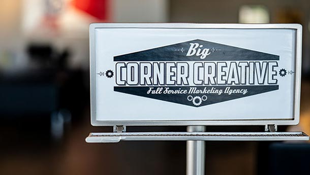 big corner creative bcc sign