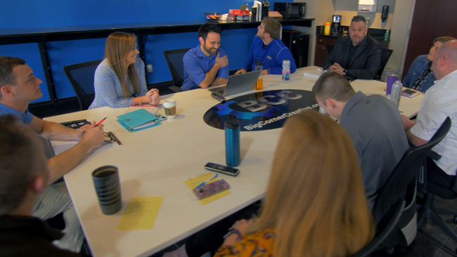 group meeting around a business table