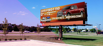 sample billboard by highway