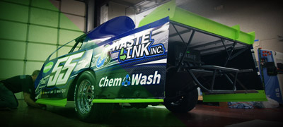 graphic vinyl wrap race car